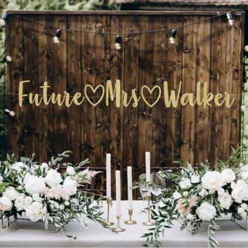 future wife bridal shower banner