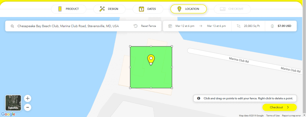 Snapchat geofence page