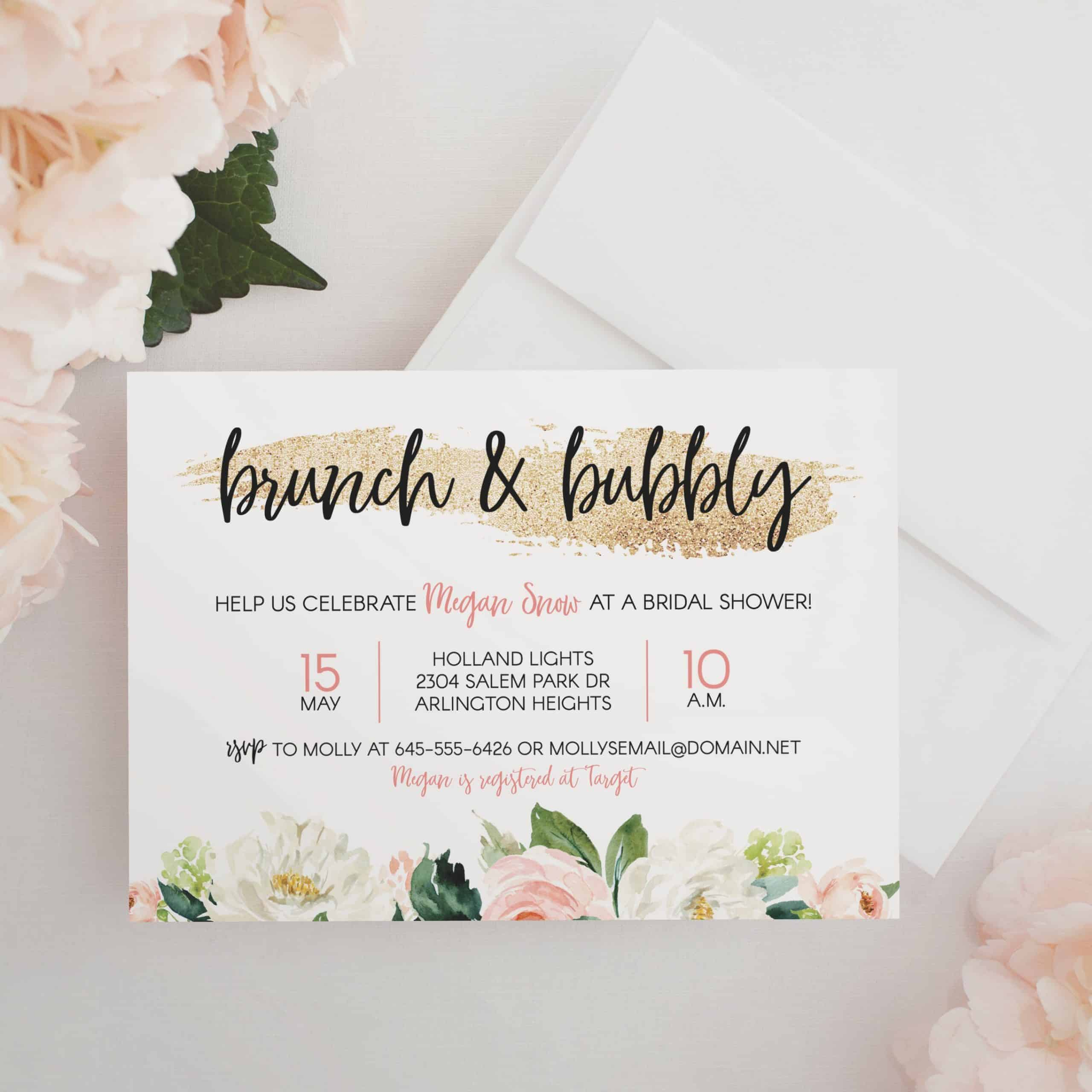 bridal shower brunch invitation