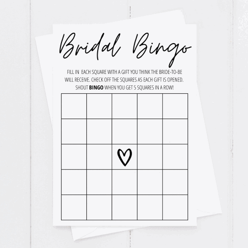 bridal shower bingo printable
