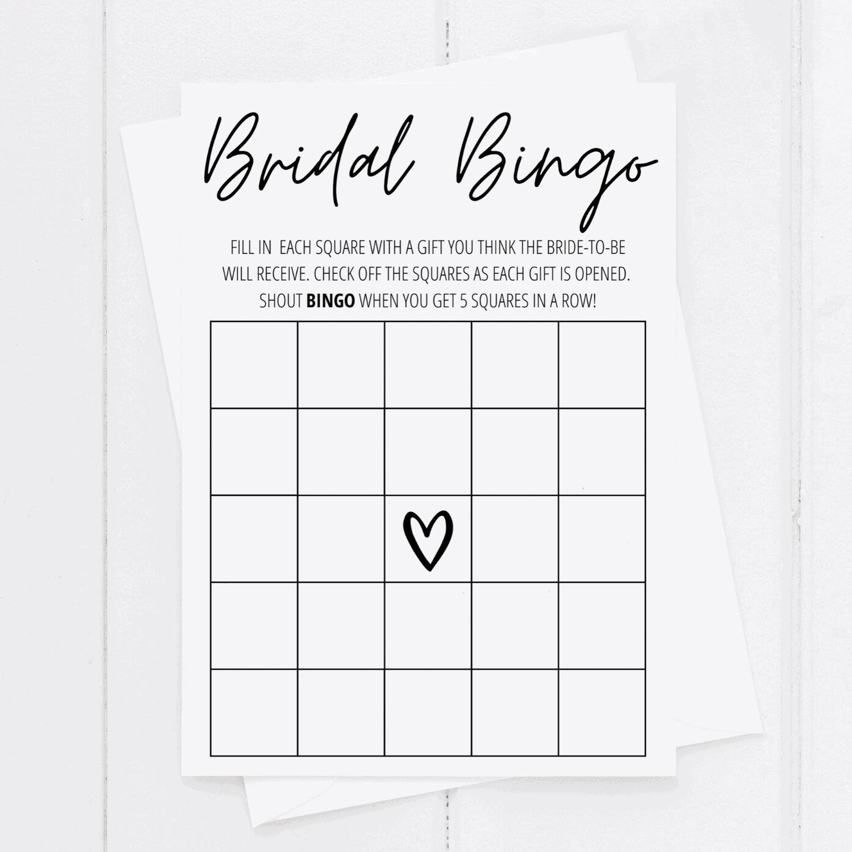 bridal shower bingo printable