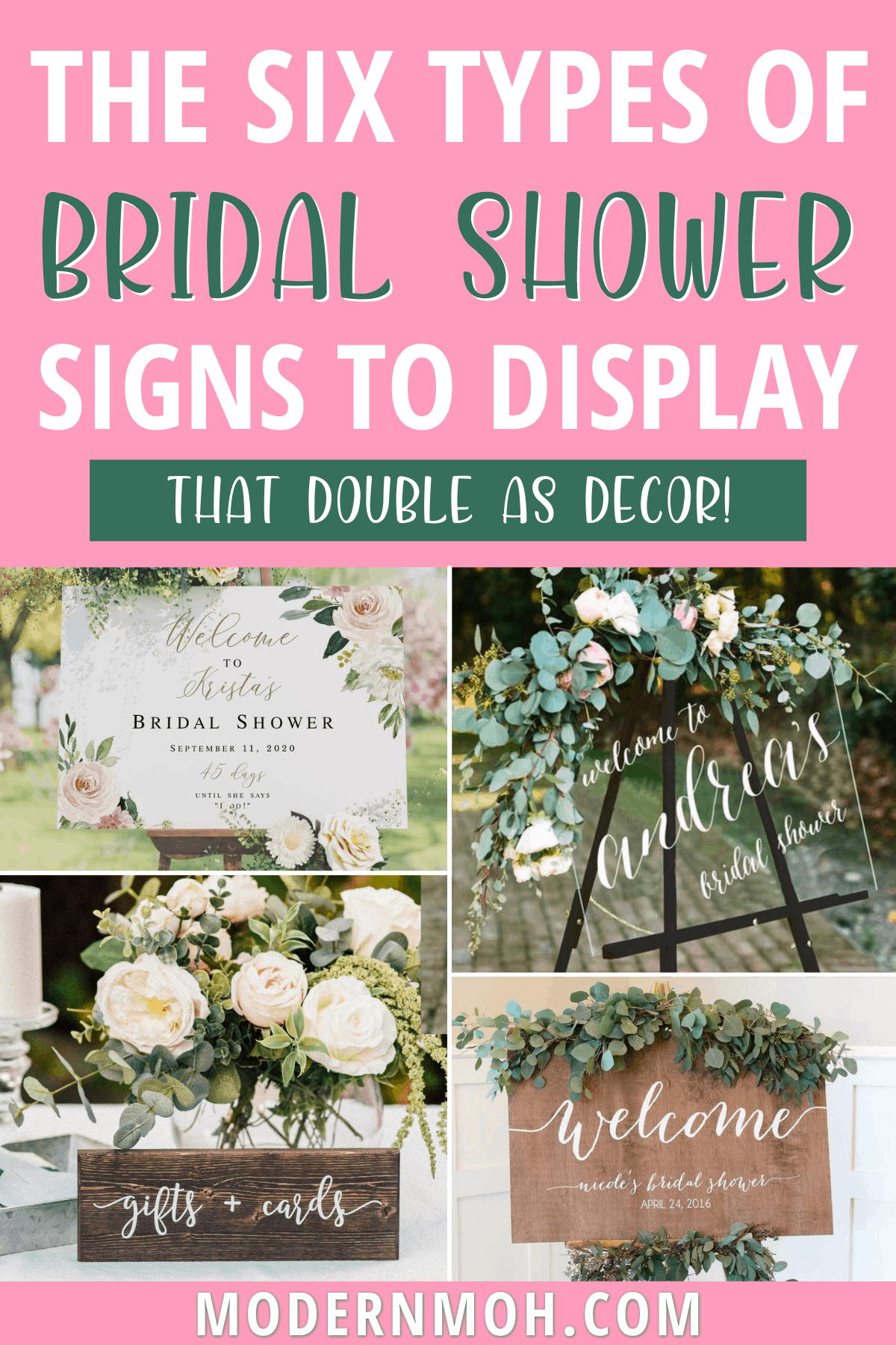 24 Bridal Shower Signs That Double as Decor