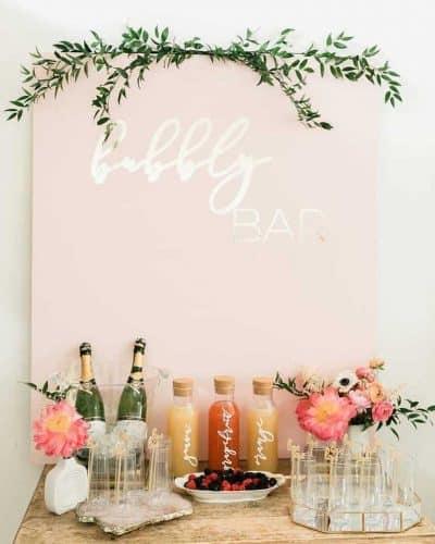 mimosa bar setup