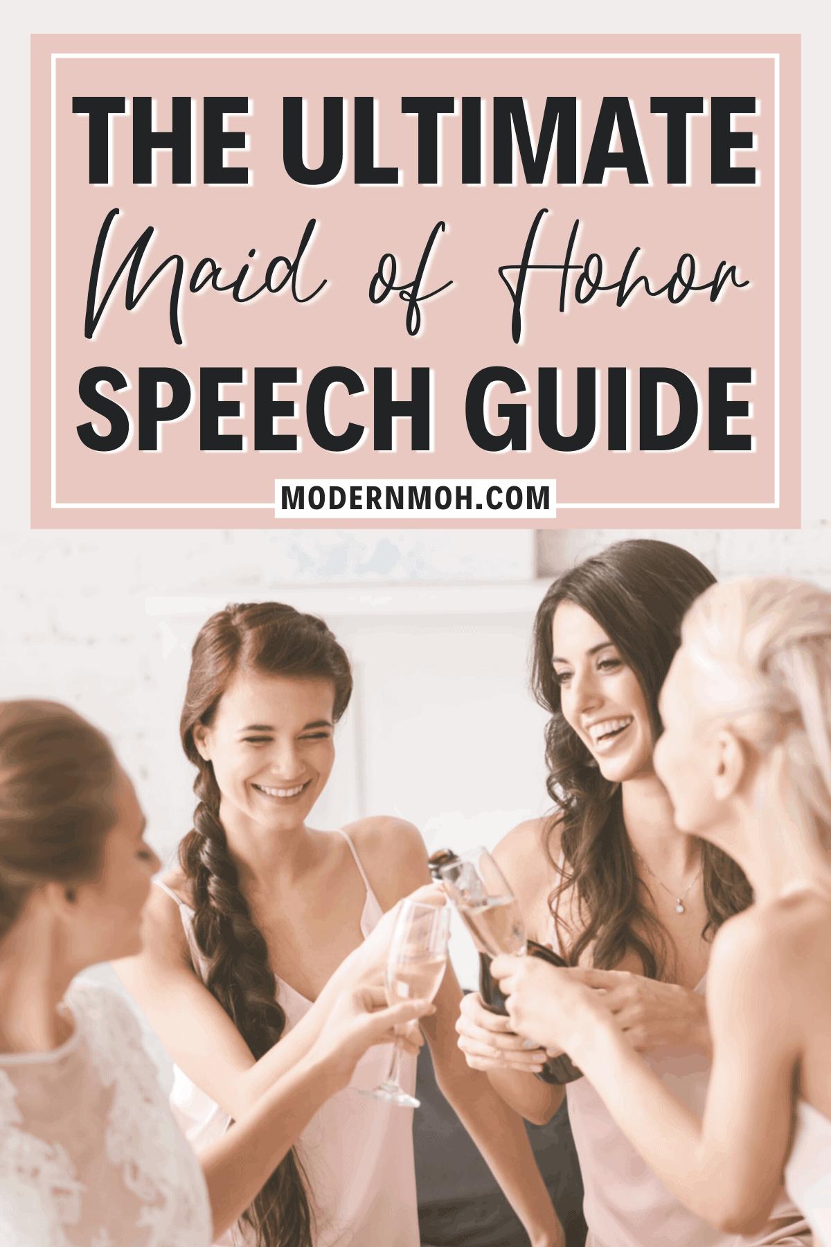 Maid of Honor Speech Tips & Tricks