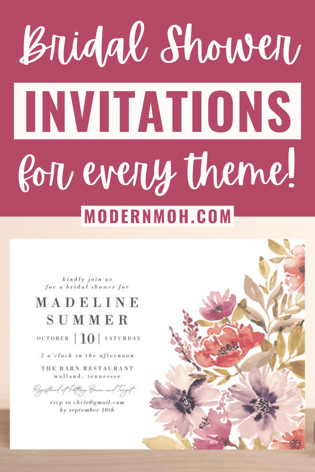 40 Bridal Shower Invitations to Match Any Theme