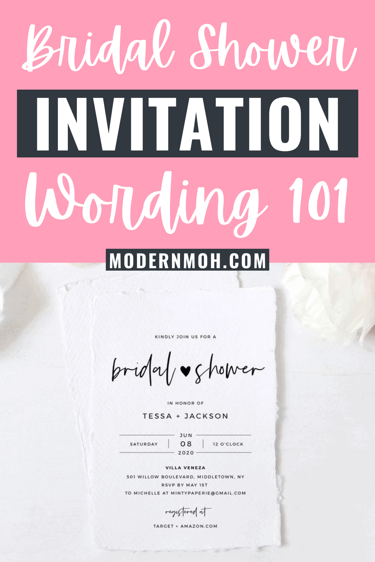 Bridal Shower Invitation Wording: Must-Have Details and Examples
