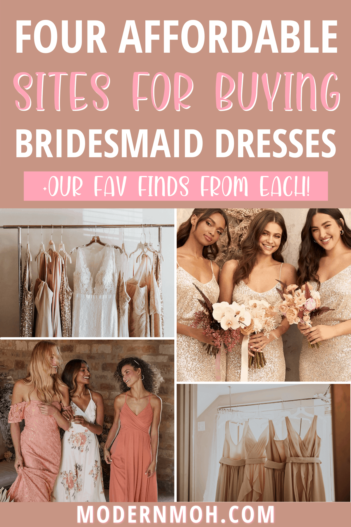 4 Places to Buy Affordable Bridesmaid Dresses Online