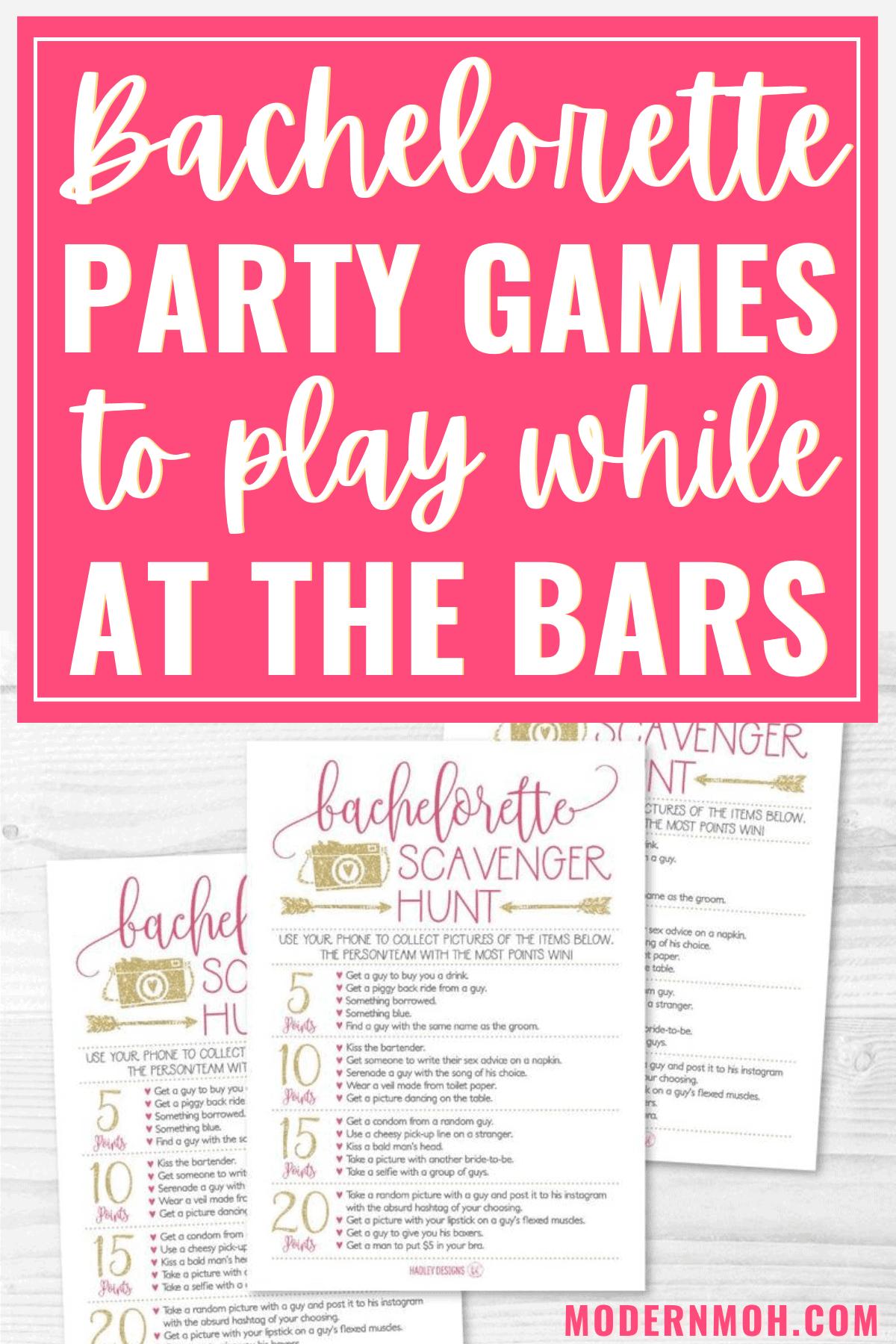 5 fun bachelorette party bar games