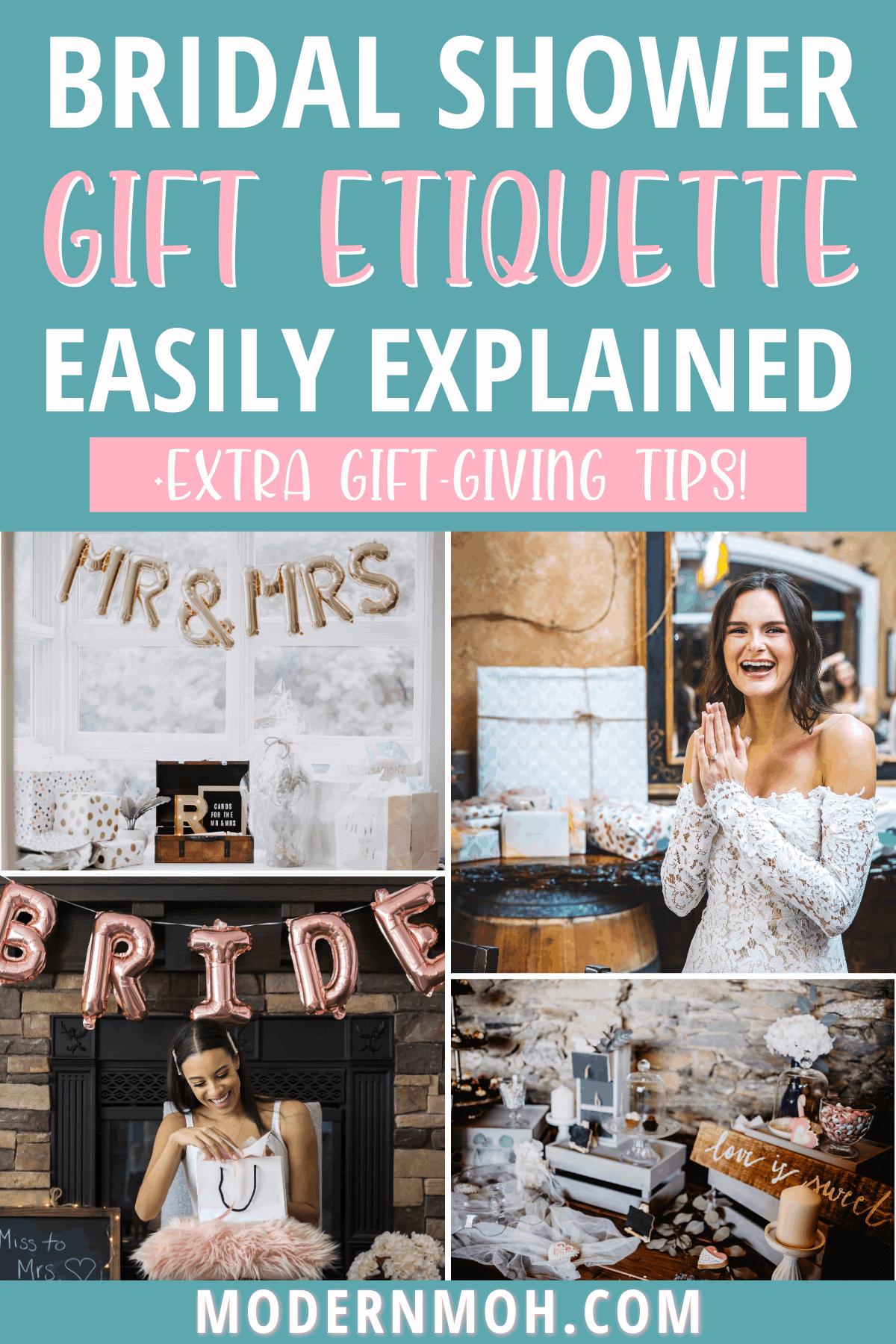 Bridal Shower Gift Etiquette For Guests