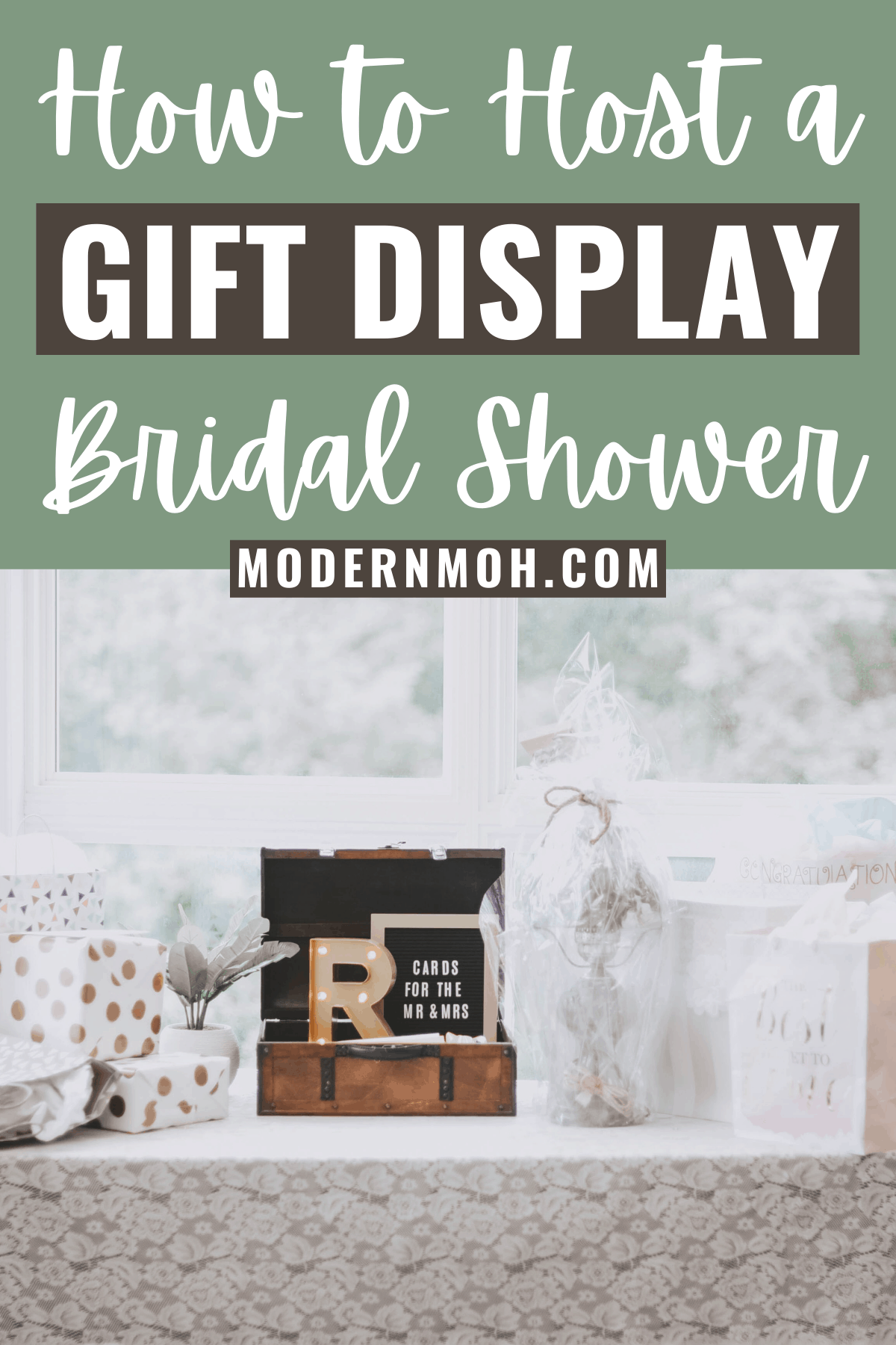 How to host a display bridal shower