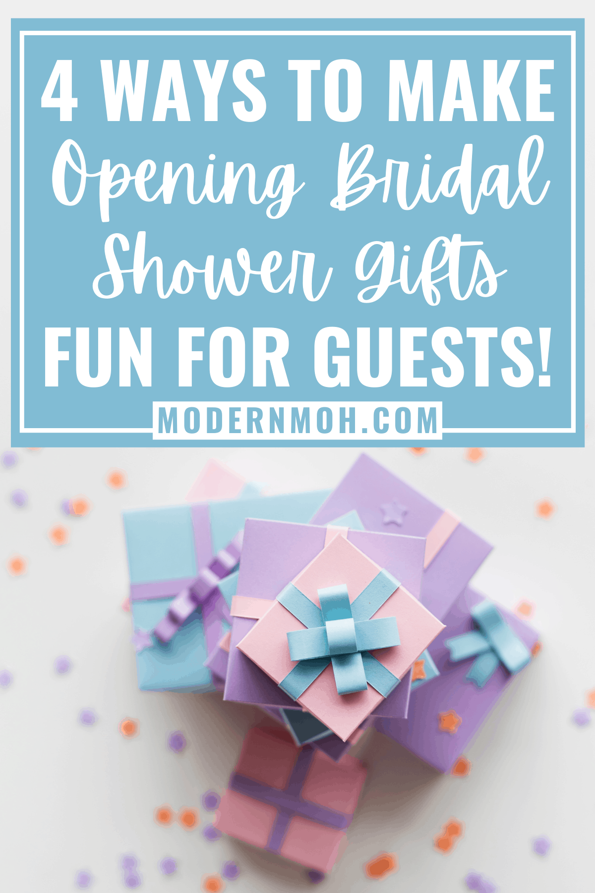 How to make bridal shower gift opening less boring
