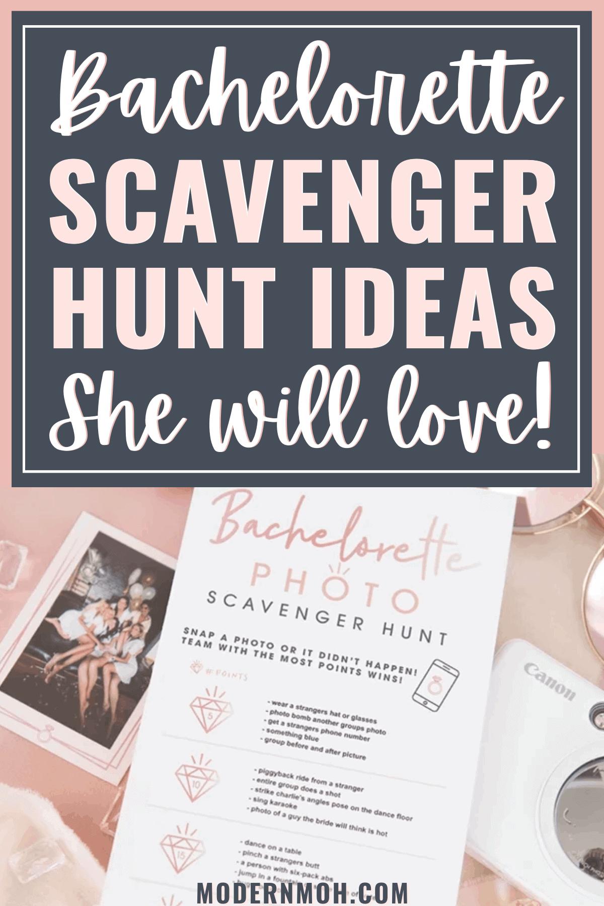The Best Bachelorette Scavenger Hunt Ideas