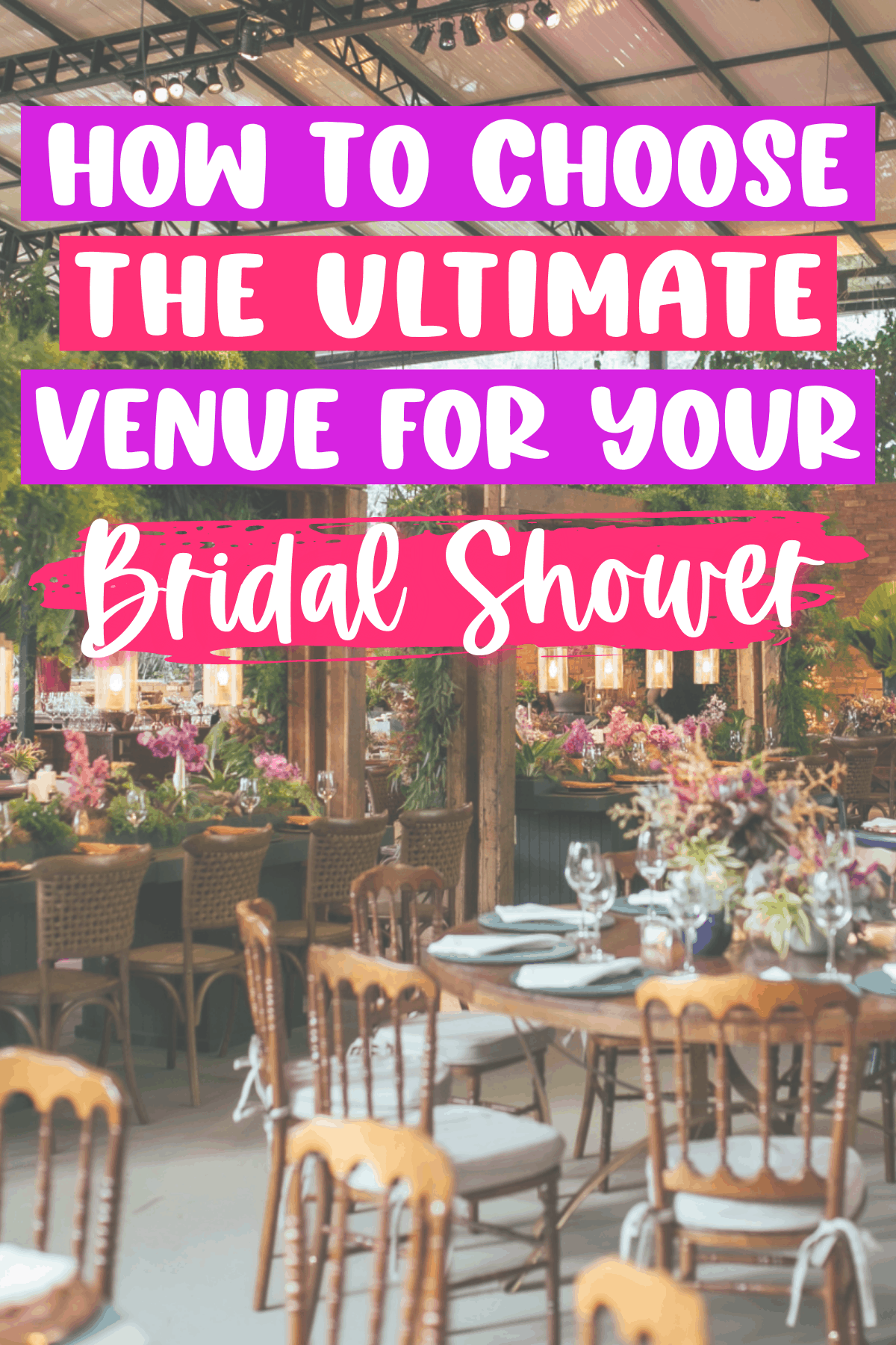 7 Places to Have a Bridal Shower
