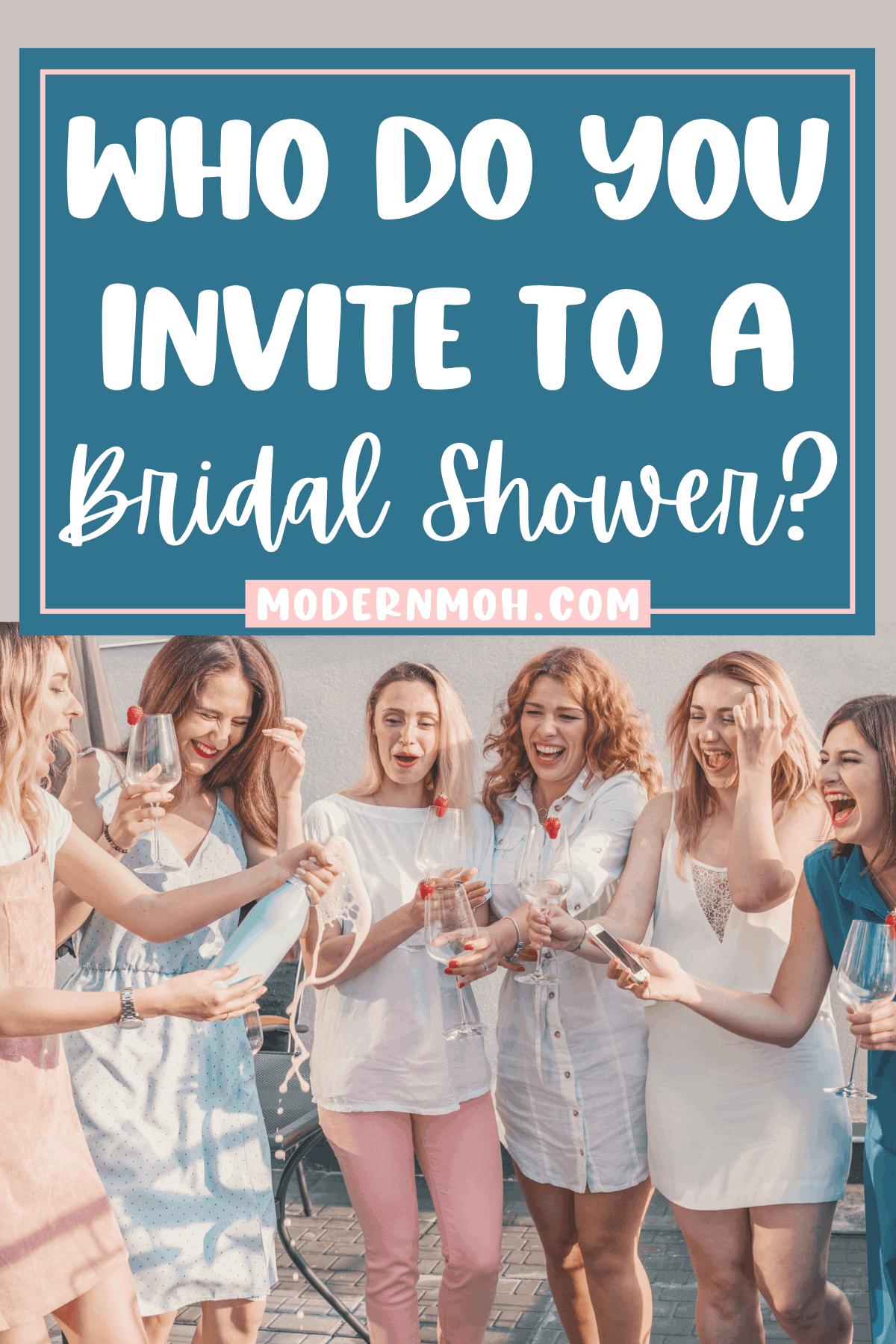 Who Do You Invite to a Bridal Shower?